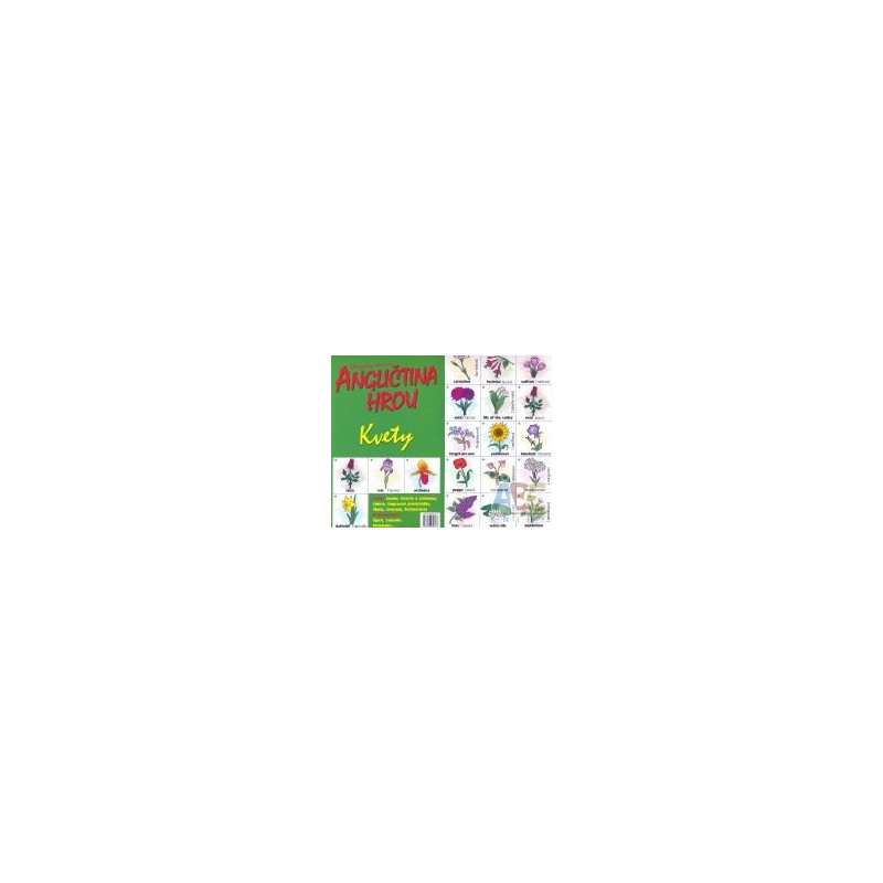 Find the pair game-Flowers (Bilingual Memory Cards)