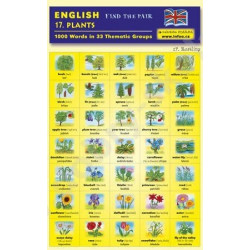 17. Plants - Find the pair game (Bilingual Czech-English Memory Cards)